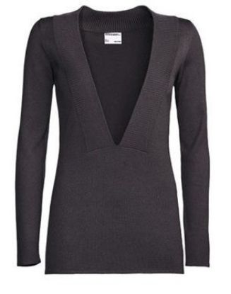 Picture of V-Neck Pullover, Ladies, Cayenne, Medium