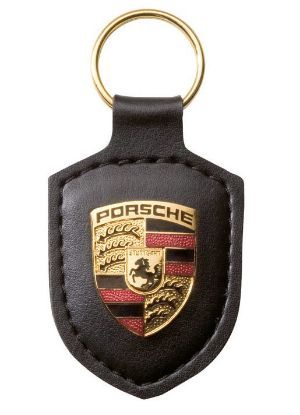 Picture of Crest Keyring Leather Black