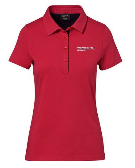 Picture of Polo Shirt, Motorsport, Red, Ladies
