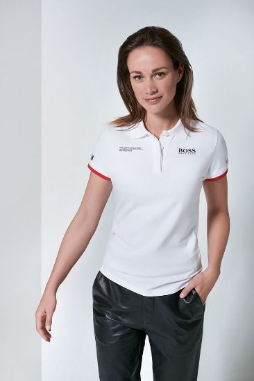 Picture of Polo Shirt, White, Motorsport, Ladies
