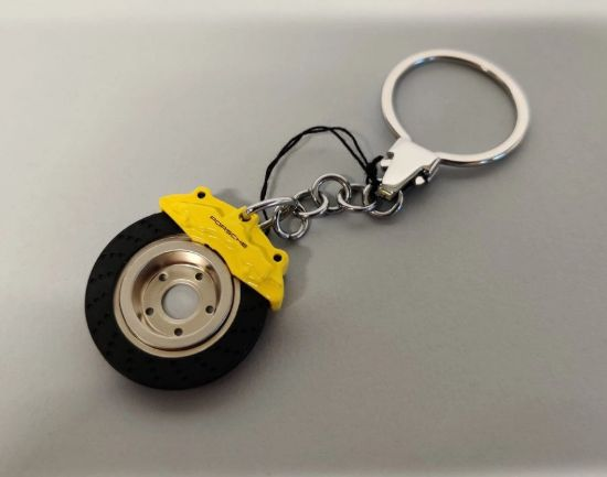 Picture of Keyring Brake Disc, Yellow
