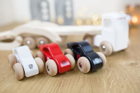 Picture of Wooden Toy Truck with Trailer & Cars