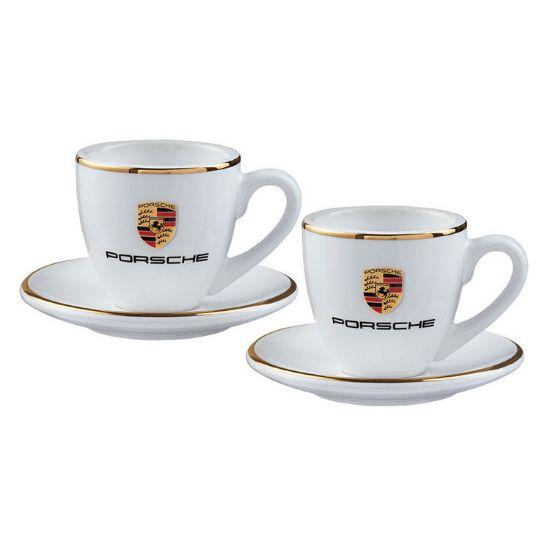 Picture of Espresso Cup Set of 2, Porsche Crest