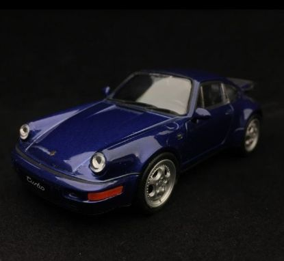 Picture of Pull-Back 911 Turbo (964) 1990 Toy, Blue