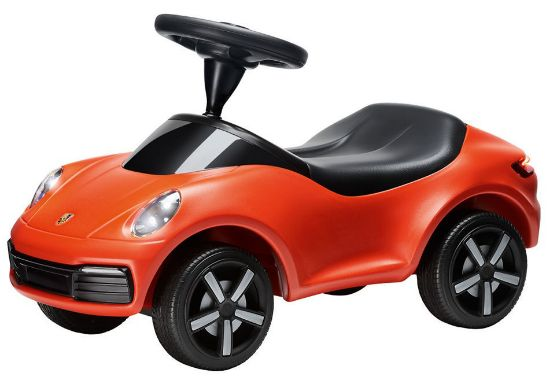Picture of Ride-On Baby Porsche with Lights, Lava Orange