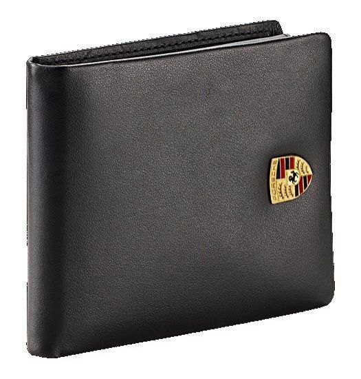 Picture of Wallet, Metal Crest, Leather, Mens