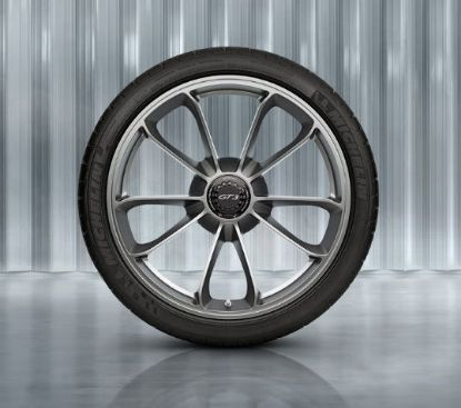 Picture of Wheel, Front, 20-inch GT3, Platinum (Satin Gloss), 991 GT3 & 991R